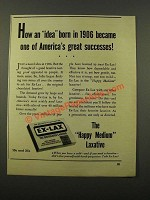 1947 Ex-Lax Laxative Ad - America's Great Successes