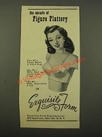 1947 Exquisite Form Style 502 Tearose Batiste Bra Ad