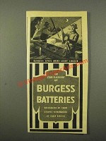 1947 Burgess Batteries Ad - Gives More Light Longer