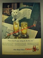 1946 Calvert Whiskey Ad - Enjoy Sitting By the Fire