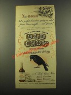 1946 Old Crow Bourbon Ad - Not Gold