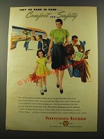 1946 Pennsylvania Railroad Ad - Comfort and Safety