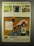1946 Corby's Reserve Blended Whiskey Ad - World Series