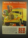 1946 REO Trucks Ad - Serving the Tobacco Industry