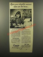 1946 Zonite Feminine Hygiene Ad - Daughter Marries
