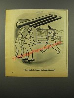 1946 Pepsi-Cola Soda Ad - Cartoon by Phil Hustis