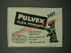 1946 Pulvex Flea Powder Ad - Now Contains DDT