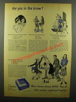 1945 Kotex Sanitary Napkins Ad - In The Know