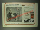 1945 Eveready Batteries Ad - Cartoon by George Wolfe