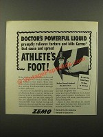 1945 Zemo Ointment Ad - Doctor's Powerful Liquid