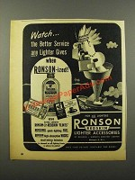1945 Ronson Redskin Lighter Accessories Ad - Watch