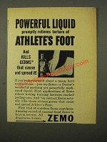 1945 Zemo Ointment Ad - Powerful Liquid