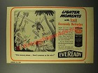 1944 Eveready Batteries Ad - Cartoon by Sid Hix