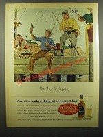 1943 Schenley Royal Reserve Whiskey Ad - Pot Luck