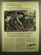 1943 Ipana Tooth Paste Ad - First The Seed