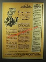 1943 National Distillers Products Corporation Ad - Town