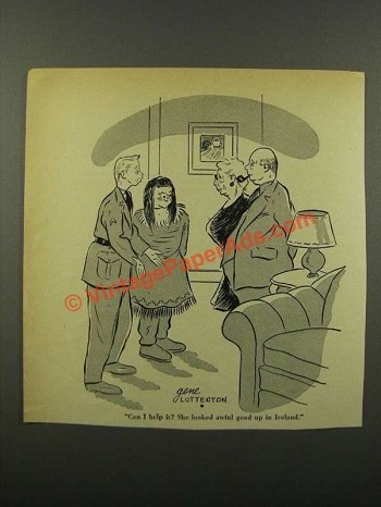 1943 Cartoon by Gene Luttenton - She Looked Awful Good