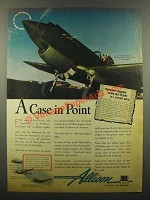 1942 Allison Aircraft Engine Ad - Curtiss P-40 Tomahawk