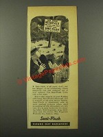 1942 Sani-Flush Cleaner Ad - This Space Reserved