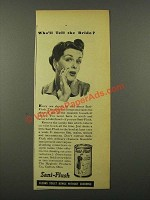 1942 Sani-Flush Cleaner Ad - Who'll Tell the Bride?