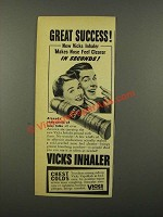 1942 Vicks Inhaler Ad - Great Success!