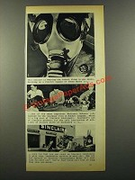 1941 Sinclair Oil Ad - Latest Thing In Gas Masks
