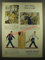 1941 Arrow Shirts Ad - Three Simple Tricks of Magic