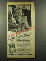 1941 Chase & Sanborn Coffee Ad - Coffee Enchantment