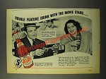 1941 Pepsi-Cola Soda Ad - Robert Preston and Ellen Drew