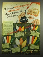 1940 General Electric G-E Mazda Christmas Tree Lamps Ad