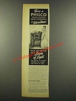 1940 Philco 608P Radio-Phonograph Ad - For Christmas