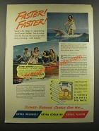 1940 Camel Cigarettes Ad - Florence Holliss - Faster!