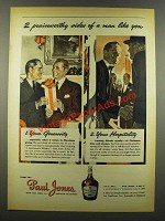 1940 Paul Jones Whiskey Ad - 2 Praiseworthy Sides