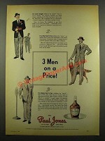 1940 Paul Jones Whiskey Ad - 3 Men on a Price