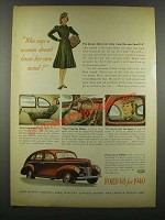 1940 Ford Car Ad - Who Says a Woman Doesn't Know