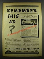 1940 Ford Cars Ad - Remember This Ad?