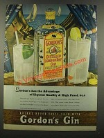 1940 Gordon's Gin Ad - Has the Advantage