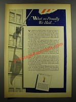 1940 Emblem of Liberty Ad - What So Proudly We Hail