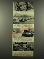 1940 Sinclair Oil Ad - Carole Landis - Ft Benning Tanks