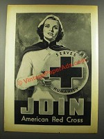 1940 American Red Cross Ad - Art by Raymond Morgan