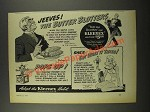 1940 Kleenex Tissues Ad - Jeeves! The Butter Blotters