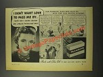 1940 Palmolive Soap Ad - Don't Want Love to Pass Me By