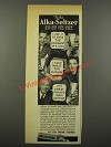 1940 Alka-Seltzer Medicine Ad - See How Much Better