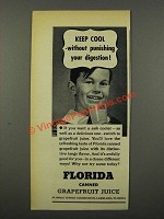 1940 Florida Citrus Commission Grapefruit Juice Ad - Keep Cool
