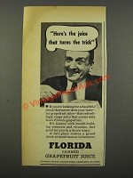 1940 Florida Citrus Commission Grapefruit Juice Ad