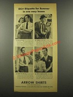 1939 Arrow Shirts Ad - Shirt Etiquette for Summer