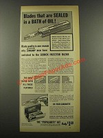 1939 Schick Injector Razor Ad - Blades Sealed of Oil