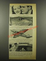1939 Sinclair Oil Ad - June Lang and Robert Kent