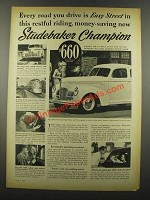 1939 Studebaker Champion Coupe Ad - Easy Street