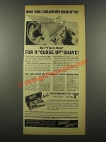 1939 Schick Injector Razor Ad - 2,000,000 Men Ahead